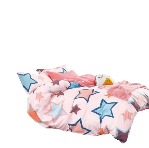 Pościel Dziecięca 140x200 100 Bawełna Satynowa Gwiazdy Rozmiar
