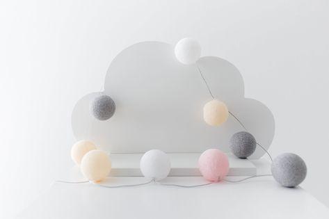 Drewniane pojedyncza półka chmurka do pokoju dziecięcego Kolor - biały