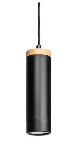 Lampa wisząca TUBES 27cm metalowa drewno żyrandol czarna fra na Arena.pl
