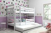 Łóżko piętrowe trzyosobowe Eryk 190x80 dla dzieci dziecięce + STELAŻ zdjęcie 7