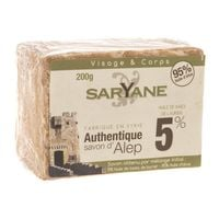 Mydło w kostce Aleppo 5% oleju laurowego 200 g - Saryane