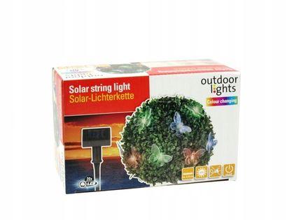 Lampa solarna zmieniająca kolory_20 LED_MOTYLE