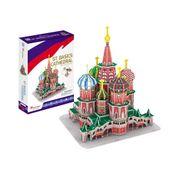 PUZZLE 3D Katedra św. Wasyla XL CubicFun 92 elementy