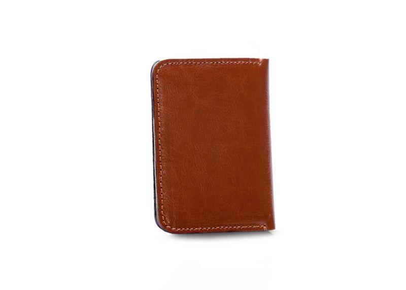 149acb9724012 Cienki skórzany męski portfel z bilonówką Solier SLIM brązowy • Arena.pl