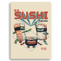 Wydruk na metalu, Wojownicy sushi 30x40