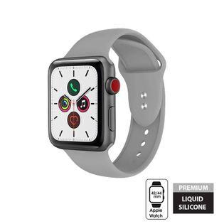 Crong Liquid Band - Pasek do Apple Watch 42/44 mm (szary)