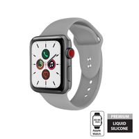 Crong Liquid Band - Pasek do Apple Watch 42/44 mm (szary)