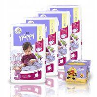 Pieluszki Happy Flexi Fit Junior 4x58 + Chusteczki