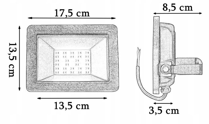 NAŚWIETLACZ LED 30W HALOGEN LAMPA ZEWNĘTRZNA SMD zdjęcie 4
