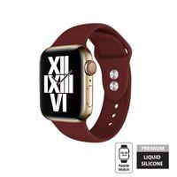 Crong Liquid - Pasek do Apple Watch 38/40 mm (bordowy)