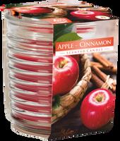 BISPOL Jabłko Cynamon 1szt - świeca zapachowa w prążkowanym szkle