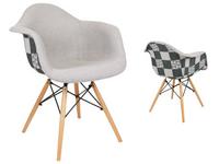 Fotel PATCHWORK Mondi PEPITKA JASNA krzesło 132-DC4 DSW