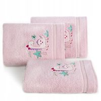 Ręcznik Dziecięcy Z Kapturkiem Różowy 75x75