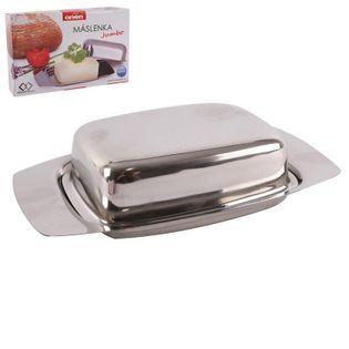 Maselniczka maselnica pojemnik na masło stalowa