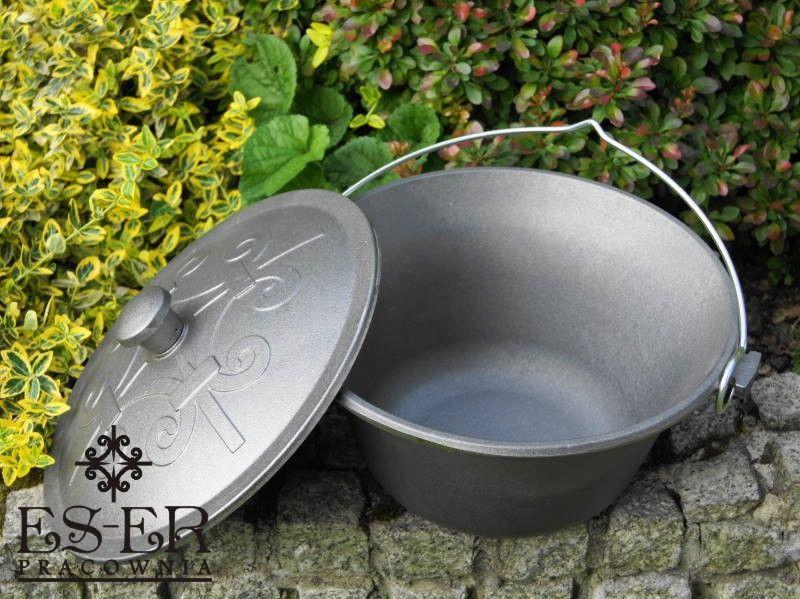 Kociołek węgierski żeliwny z pokrywą 10.5 l - polski producent ES-ER na Arena.pl