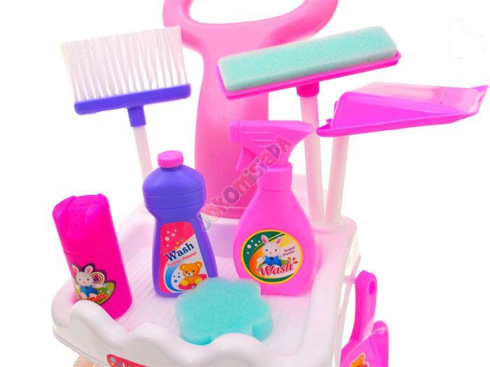 Zestaw Do Sprzątania Na Wózku Odkurzacz Miotła Mop zdjęcie 6