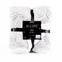 "Ekskluzywny koc ""Allure"" - 150x200 cm - szary/srebrny"