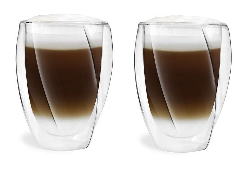 Szklanki Termiczne z Podwójną Ścianką do Kawy Latte Herbaty 300ml 6szt zdjęcie 3