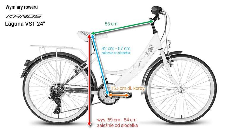 Rower 24 KANDS LAGUNA VS-1 ZWK biało-miętowy zdjęcie 10