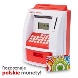 BANKOMAT - MAŁY BANKIER - SKARBONKA LICZĄCA PLN !