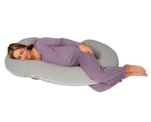 Poduszka ciążowa rogal do spania i karmienia Typ C - granatowe gwia. zdjęcie 3