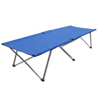 Łóżko Turystyczne, 206 X 75 X 45 Cm, Xxl, Niebieskie