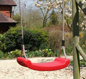 Siedzisko plastikowe huśtawka na linach na plac zabaw
