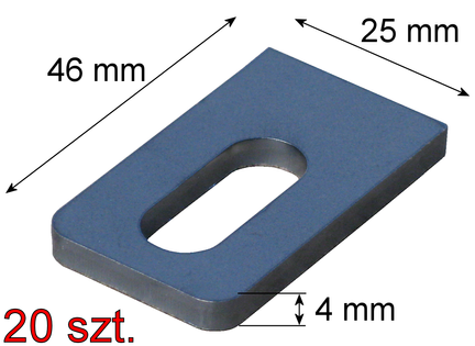 Uchwyt mocowanie przęsła 25x46x4mm, 20 szt. (0,90 zł/szt.)