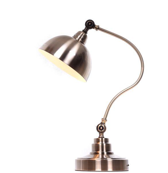 LAMPA STOŁOWA BIURKOWA MOSIĘŻNA PARMIO zdjęcie 3