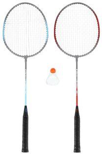 Zestaw rakietek do badmintona 2 sztuki + lotka Nils NRZ002 steel