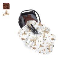 Ocieplony kocyk do fotelika - Happy bear - cappucino,