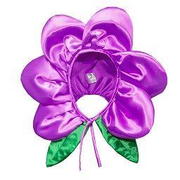 """Czapka """"Kwiatek"""" - fioletowa średnia"""