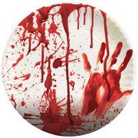 zakrwawione TALERZYKI KRWAWE krew Halloween x8