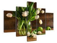 Obraz Drukowany 100x70 Kremowe tulipany  praca  nadzwyczajny
