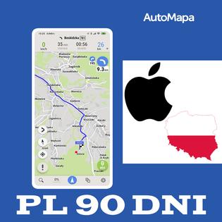 AutoMapa Polski licencja na 3m-ce (90 dni) iOS