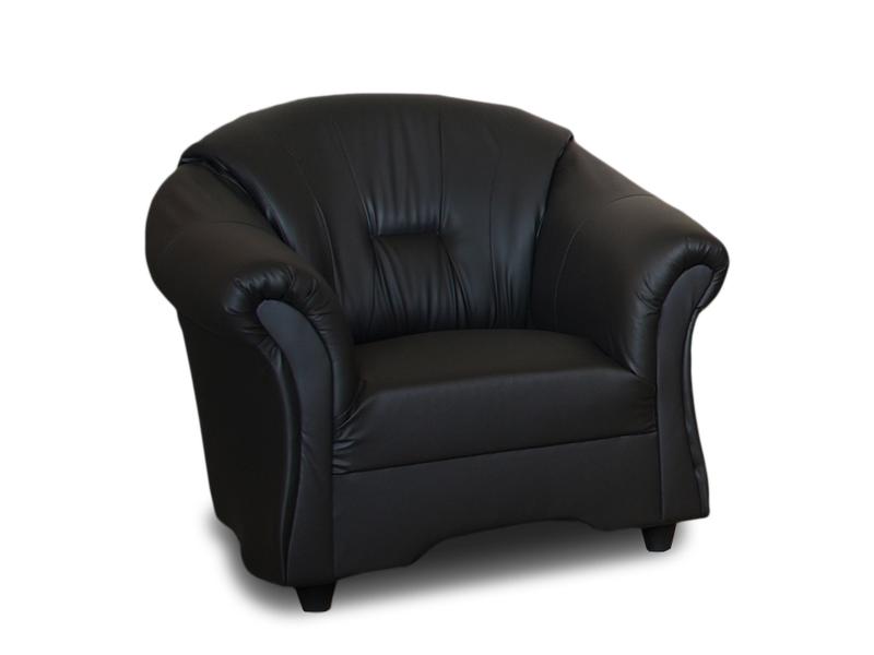 Wygodny Fotel Alex do salonu w ekoskórze - Różne kolory zdjęcie 1