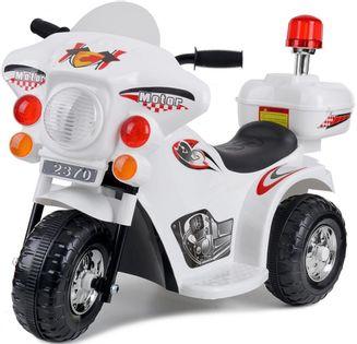Motor elektryczny dla dzieci na akumulator POLICJA Biały