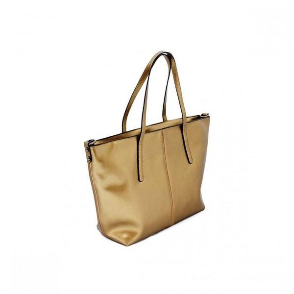 c691200d438ac0 Metaliczna damska torebka shopper złota na ramię elegancka • Arena.pl