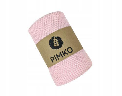 PIMKO Bawełniany kocyk 100x80 - Powder pink na Arena.pl
