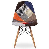 KRZESŁO fotel retro patchwork
