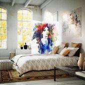 Parawan pokojowy, trzyczęściowy, jednostronny, na płótnie Canvas, Watercolor women 110x150 zdjęcie 3