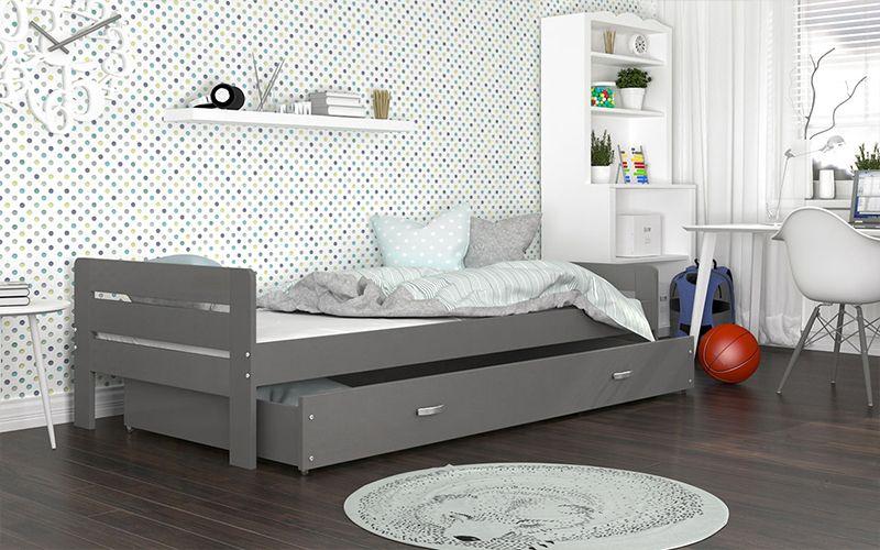 Łóżko BARTEK COLOR 200x90 szuflada + materac na Arena.pl