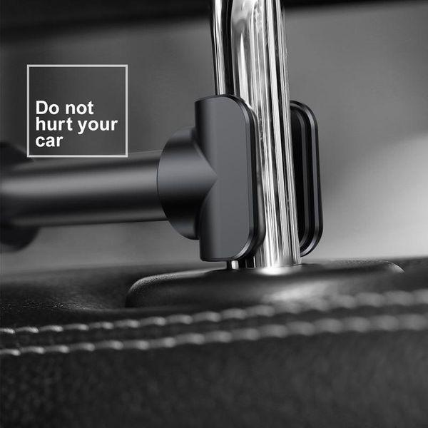 Uchwyt na zagłówek Baseus Backseat dla tabletów i smartfonów (srebrny) zdjęcie 8