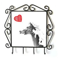 American Paint Horse - kolekcja wieszaków z wizerunkiem konia. Kolekcja. Koń z sercem