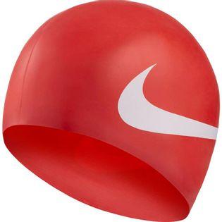 Czepek pływacki Nike Os Big Swoosh czerwony NESS8163-614