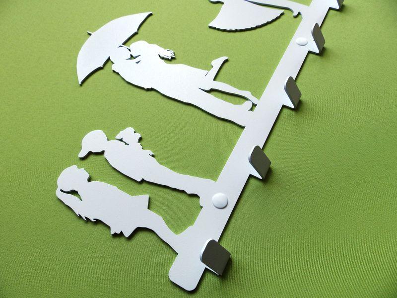 Metalowy wieszak ścienny na ubrania klucze - LIVE zdjęcie 4