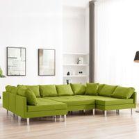 Sofa modułowa tkanina zielona VidaXL