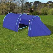 Namiot 4 Osobowy Granatowy / Jasnoniebieski