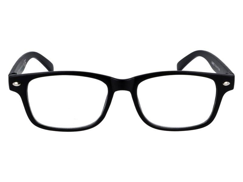 Czarne okulary korekcyjne do czytania plusy +3.50 na Arena.pl