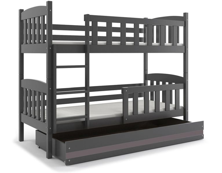 Łóżko piętrowe dla dzieci Kubuś 190x80 dziecięce + MATERAC + SZUFLADA zdjęcie 10